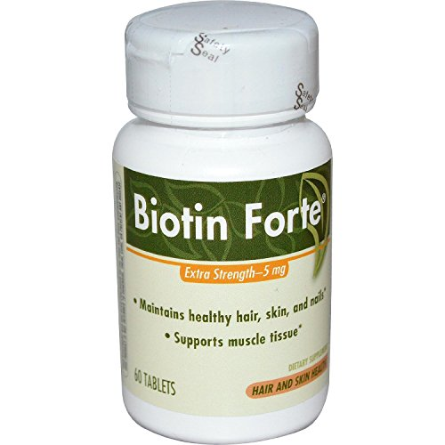 Biotin Forte Extra Strength 5 Mg Enzymatic Therapy Inc  60 Tabs