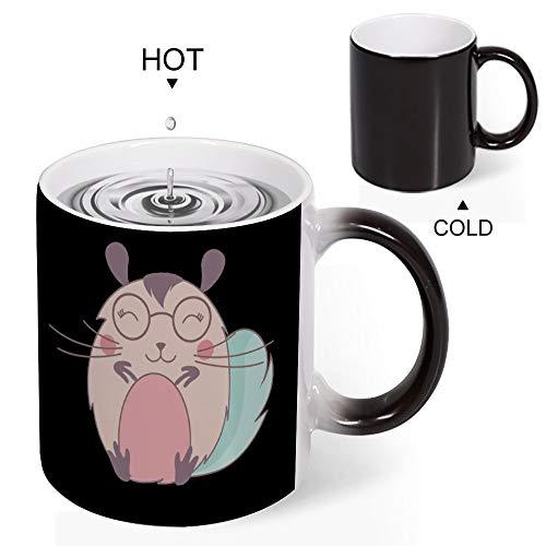 Heat Sensitive Mug Heat Sensitive Coffee Mugs For Men Funny Coffee Cup Heat Activated Teacups, Chin, 11 OZ