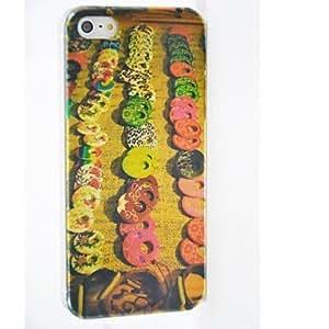 conseguir Colorido Modelo redondo policarbonato casos duros para el iPhone 5/5S , Multicolor
