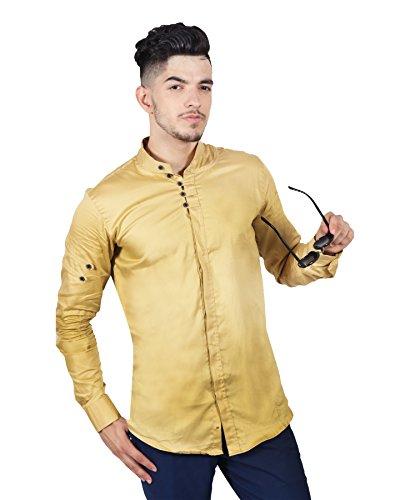 Jai Textiles Men #39;s Mandarin with Lupi Shirt