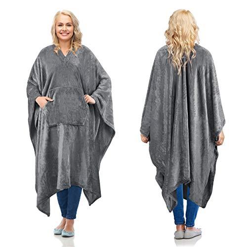 Fleece Wearable Blanket Poncho