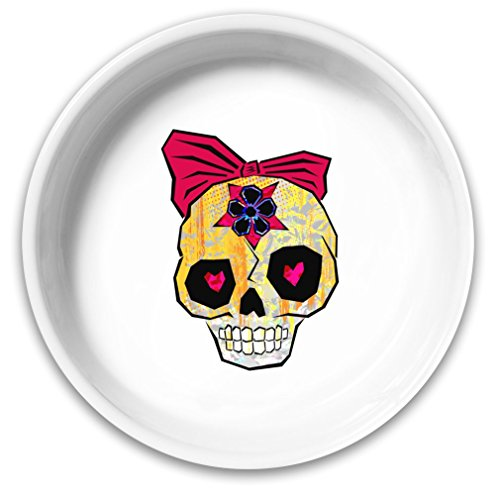 Sugar Skull Dog Bowl| Solid Ceramic