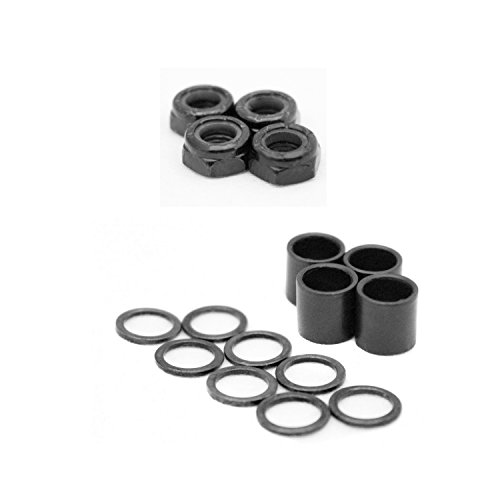 Dime Bag Hardware Skateboard Truck Speed Kit Axle Washers/Nuts / Spacers for Bearing Performance
