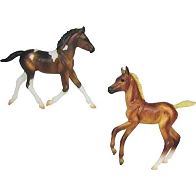 Breyer Classics Colorful Foals: One Bay Pinto, One Chestnut from Breyer