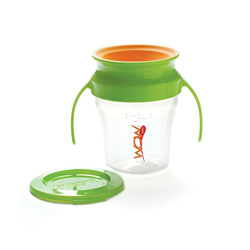 - Wow Baby Spill Free 360 Training Cup - Green/Orange - 7 oz