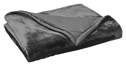 Vellux Plush/Sherpa Throw, Grey