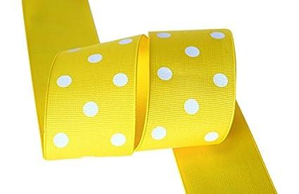 Ribbon Bazaar Grosgrain Polka Dots 1-1//2 inch Apple Green By the Yard 100/% Polyester Ribbon