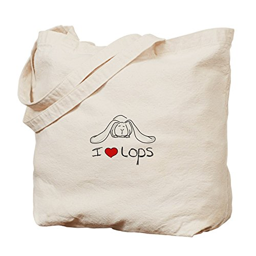 CafePress I Love Lops–Borsa–Borsa di tela naturale, panno borsa per la spesa