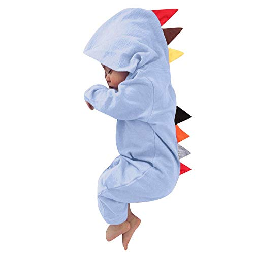 Toddlers Cartoon Onesies Dinosaur Romper One-Piece Jumpsuit Baby Pajamas PJS