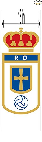 fan products of Real Oviedo Spain Soccer Football Club FC 2 Stickers Car Bumper Window Sticker Decal Huge 18 inches