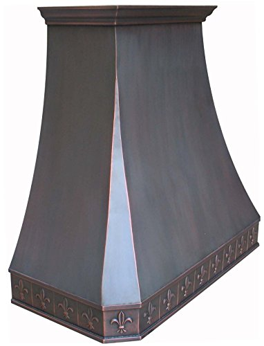 Hammered Copper Range Hood With Stainless Steel 304 Vent