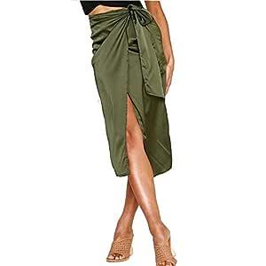 Zxllyntop-Dresses Falda Casual para Mujer Falda de Mujer con ...