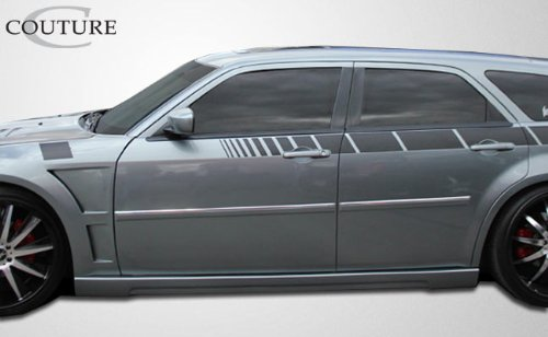 Couture ED-AUU-935 Urethane Luxe Side Skirts Rocker Panels - 2 Piece Body Kit - Compatible For Dodge Magnum 2005-2010 ()