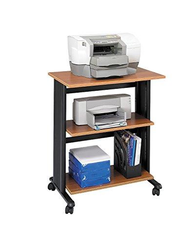 Muv Three Level Adjustable Printer Stand Mahogany Computer, Electronics