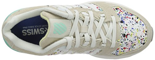 White 18 Sneakers Si Top Swiss 2 Women Trainer Beige Beige M K Low 7q1wBAx