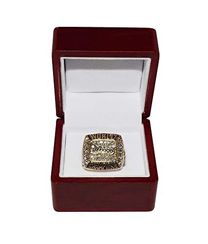 LOS ANGELES LAKERS (Kobe Bryant) 2000 NBA FINALS WORLD CHAMPIONS (The Bling Bling Ring) Rare Collectible Replica NBA Basketball Gold Championship Ring with Cherrywood Display Box