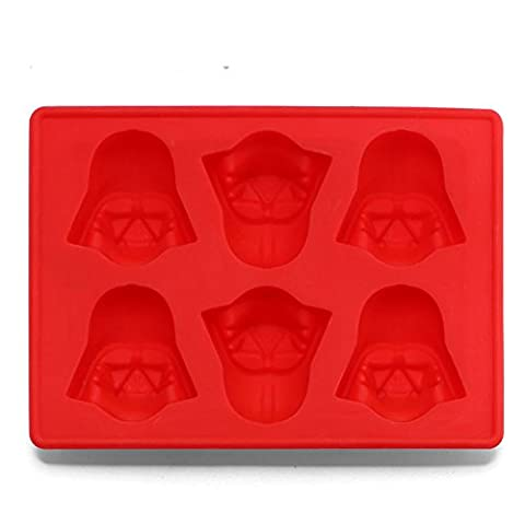 Silicone Ice Cube Tray Star Wars Chocolate Jelly Candy Soap Cake Mold (Red)