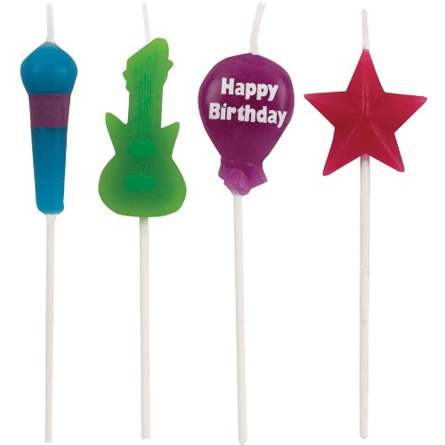 Rock Star Pick Candles (4ct)