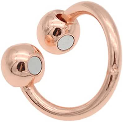 Rose Gold Copper Finger Ring Megnet Healing Ring Pain Therapy Gift 1 Pc
