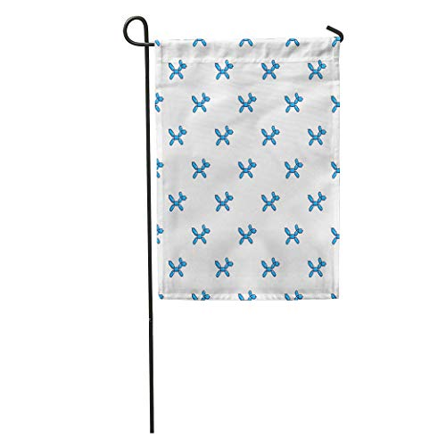 (zhurunshangmaoGYS Garden Flag Colorful Air Animal Figures Out of Blue Balloon Pattern Birthday Home Yard House Decor Barnner Outdoor Stand 12x18 Inches Flag)
