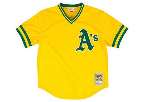 Rickey Henderson Gold Oakland Athletics Authentic Mesh Batting Practice Jersey XX-Large (52)