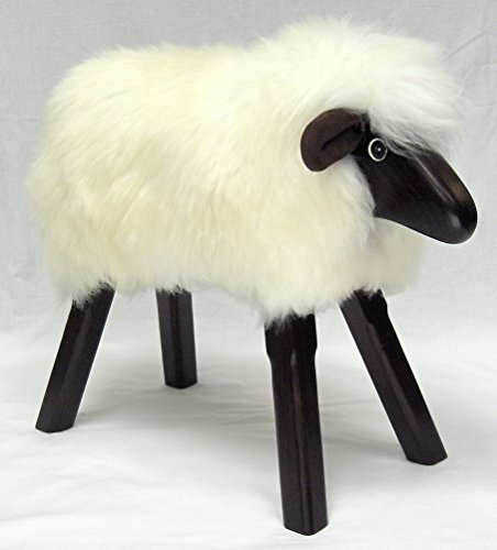 Captivating Handmade Ivory Fleece Lamb Footstool. Photo Gallery