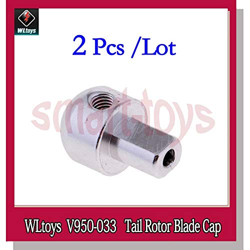 Rotor Tail System - Part & Accessories 2Pcs V950 Tail Rotor Blade Cap V950-033 for V950 6CH RC Helicopter Spare Parts