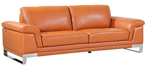 - Blackjack Furniture 411-CAMEL-S Sofa Italian Leather, Livingroom, Camel