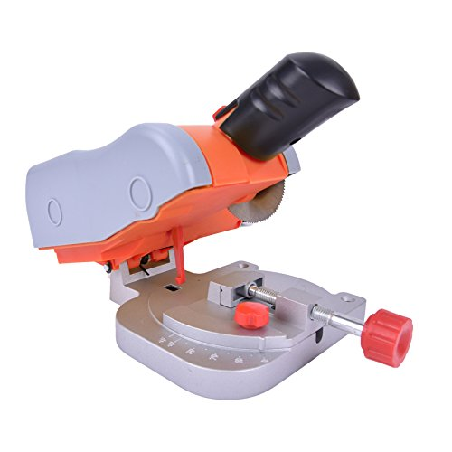 ELEOPTION High Speed Bench Cutter Steel Blade for Cutting Metal Adjustable 120V 7800 rpm DIY Mini Cutting Machine T-nut Miter Fence KP-400-30CVV