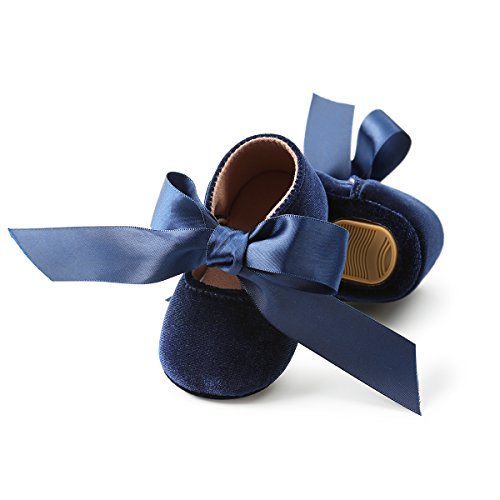 Soft Soles Classic Sandal (Sabe Infant Baby Girls Boys Bowknot Sandals colorful Soft Sole Mary Jane Shoes (12-18 Months, A-Blue))