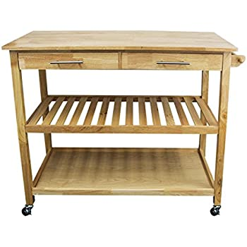 houseables kitchen island cart microwave stand and carts brown natural 20    amazon com   houseables kitchen island cart microwave stand and      rh   amazon com
