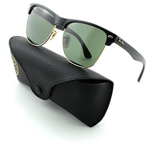Ray-Ban RB 4175 877 Unisex Sunglasses Demi Shiny Black Frame Crystal Green Lens - R B Sunglasses