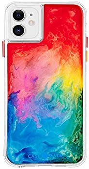 Case-Mate - iPhone 11 Case - Tough Watercolor - Real Ink Swirl - 6.1 - Rainbow Splash