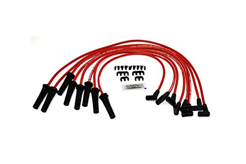 - A-Team Performance Silicone Spark Plug Wires Set Black 90 Degree Boot for HEI Distributor Compatible with Mopar Chrysler Dodge 318 360 Red 8.0mm