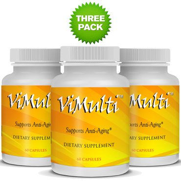 Vimulti Anti-Aging 3 Pack Supports Strong Hair Growth, Stronger Nails While Helping Manage Weight and Muscle Growth by vimulti
