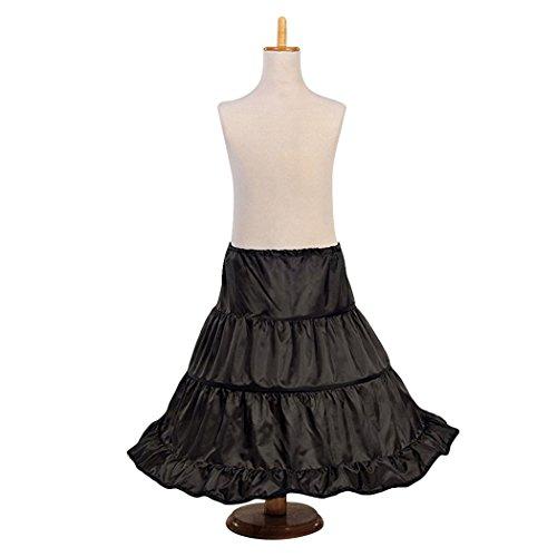 HOTER 3 Hoops Flower Girl Crinoline Petticoat Underskirt Slip Party/Ball/Prom/Concert/Wedding/Halloween/Christmas Gift by HÖTER