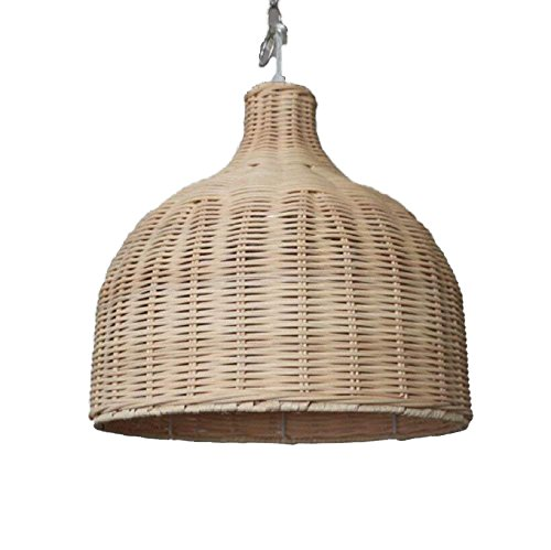 (Siminda Southeast Asia Tropical Bamboo Chandelier DIY Wicker Rattan Lamp Shades Weave Hanging Light 13.77)