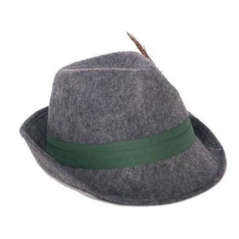 Super sconto vendita calda online acquisto economico Cappello da caccia con piuma, cappello feste tirolesi, in feltro, in  feltro, Oktoberfest Cappello bavarese