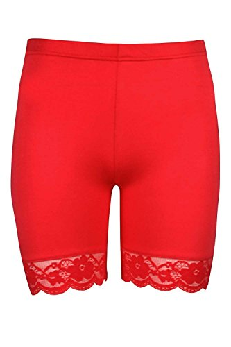 The Celebrity Fashion Pantaloncini - Donna Red - Hot Pants Short Pants Beach Holiday Outwear
