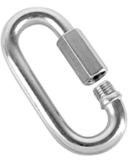 Quick Link Stainless Steel Chain Connector by KINJOEK, Heavy Duty D Shape Locking Looks for Carabiner, Hammock, Camping and Outdoor Equipment