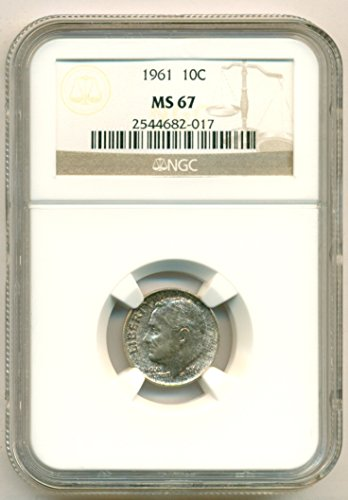 1961 Roosevelt Dime MS67 NGC
