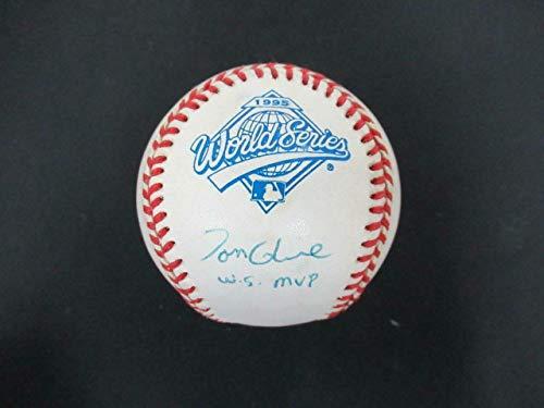 (Signed Tom Glavine Ball - 1995 World Series AF15365 - PSA/DNA Certified - Autographed Baseballs)