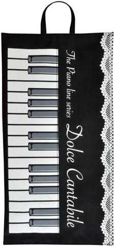 Pianolineボックスティッシュカバー(レース&鍵盤柄) 音楽モチーフ