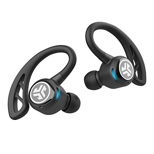 JLab Audio Epic Air Sport True Wireless Bluetooth 5 Earbuds | Headphones for Working Out, IP66 Sweatproof | 10-Hour Battery Life, 60-Hour Charging Case | Music Controls | 3 EQ Sound Settings | Black