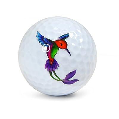 Nicks Underground Novelty Golf Balls - Hummingbird 3 Pack Display Tube #NUG1