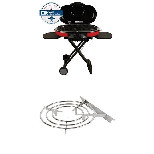 Coleman 9949-750 Road Trip Grill LXE and Coleman Roadtrip Swaptop Stove Grate Road Trip Portable Propane