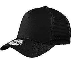 New Era Snapback Trucker Cap Black Blank Cap