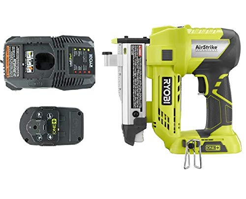 Ryobi One+ Plus 18 Volt Air Strike 23 Gauge 1-3/8in Cordless Headless Pin Nailer P318, Battery and Charger Combo Kit (Bulk Packaged) (Renewed) ()