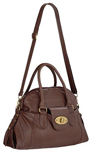 Gigi Brown Leather Bag - 1