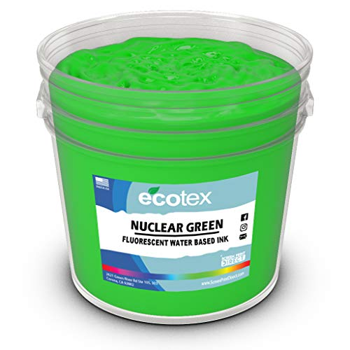 Ecotex Nuclear Green Water Based Discharge Ink for Screen Printing - Non Phthalate Formula for Fabric/Textiles - PINT-16 oz.